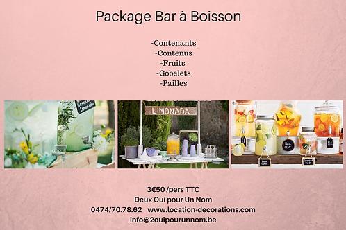 "Package ""Bar à boisson"""