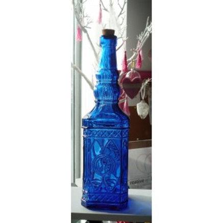 Petite bouteille en verre coloré