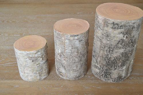 Trio de rondins de bois