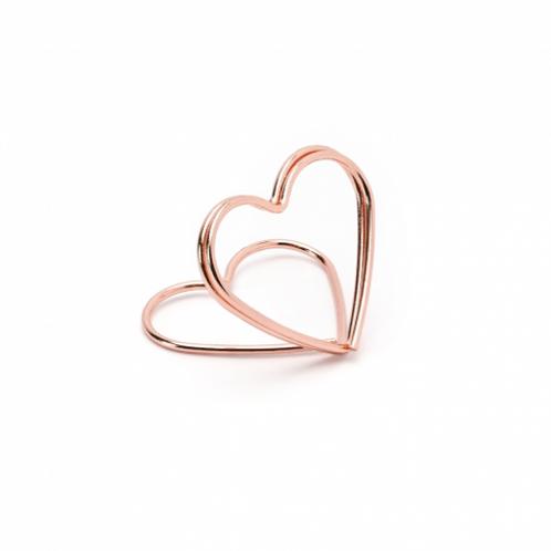 Marque place en forme de coeur