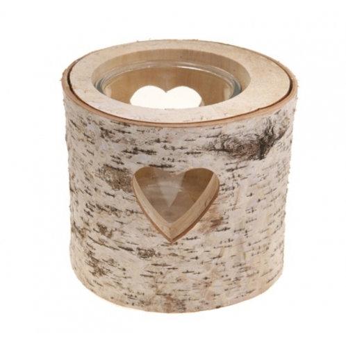 Vase en bois coeur