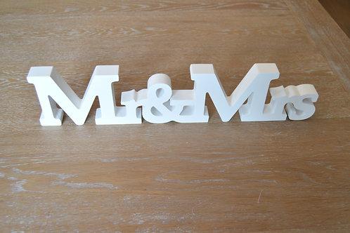 Mr & Mrs en bois