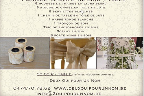 """Package """"Champêtre Chic / Table"""