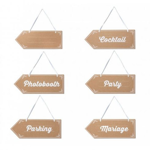 6 panneaux indication en ktaft