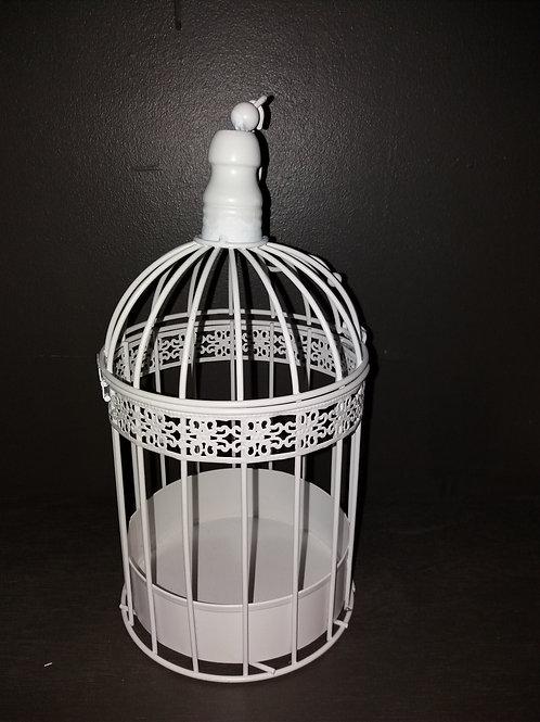 Cage d'oiseau blanche (petite)