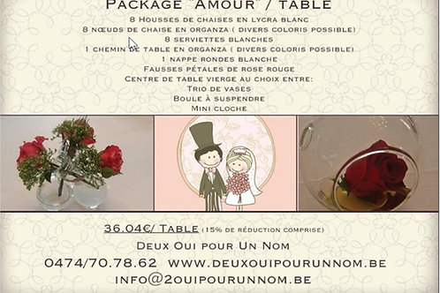 "Package ""Amour"" / Table"