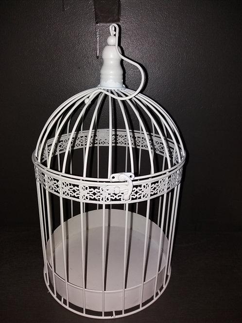 Cage d'oiseau blanche (grande)
