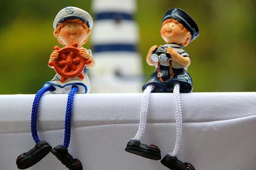 Figurines de Marins en porcelaines