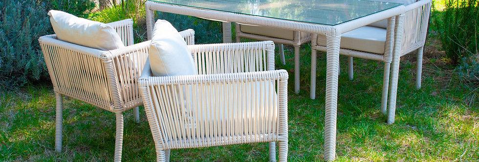 Vera Yemek Takımı 6 sandalyeli Kum