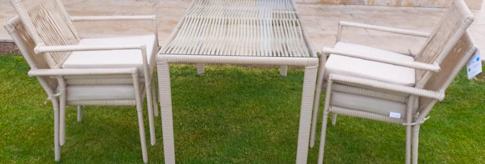 Leros Yemek 140x80cm 4 Sandalyeli