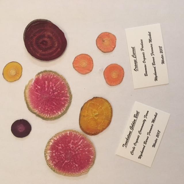 Pressed Vegetable Art