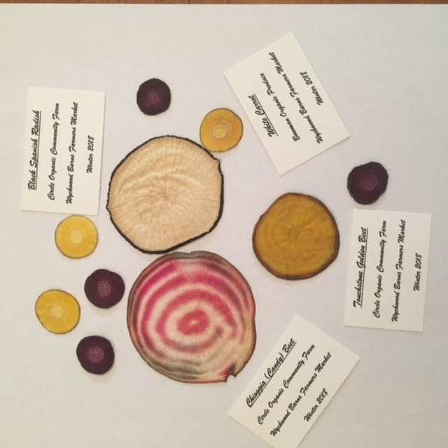 Pressed Vegetables Art