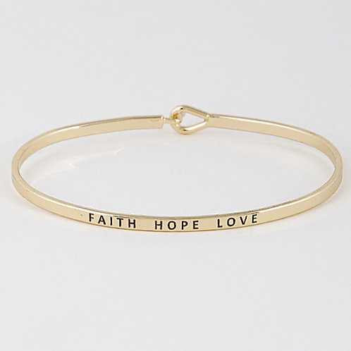 Faith Hope Love Bangle