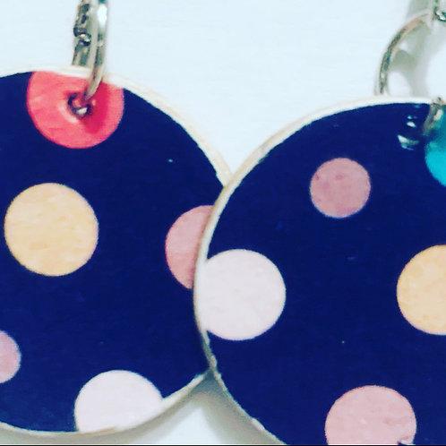 Polka Dot Mini  Color Drop Earrings