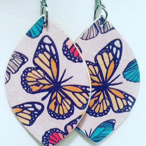 Butterfly Spring Drop Earrings