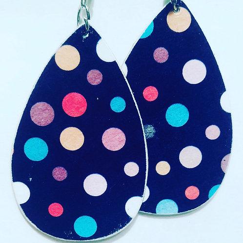 Polka Dot  Color Drop Earrings