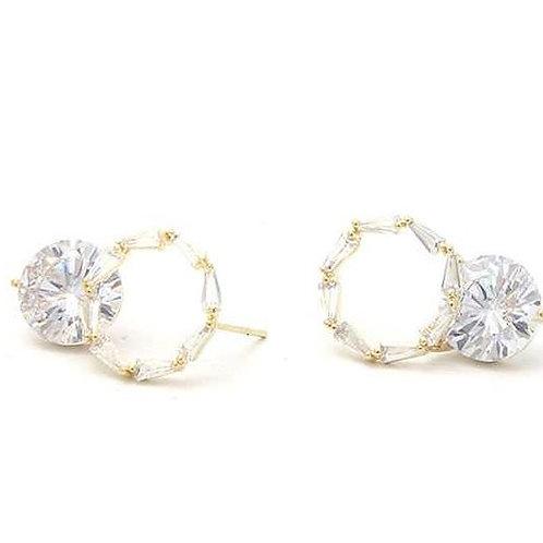 Crown Diamond Drop Earrings