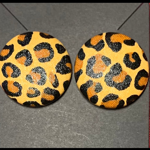 Leopard Large Stud Earrings
