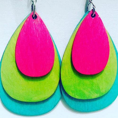 Neon Lover Drop Earrings