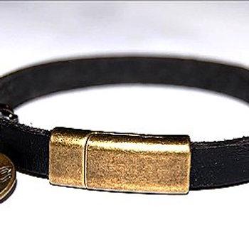 Leather Mag Charm Bracelet