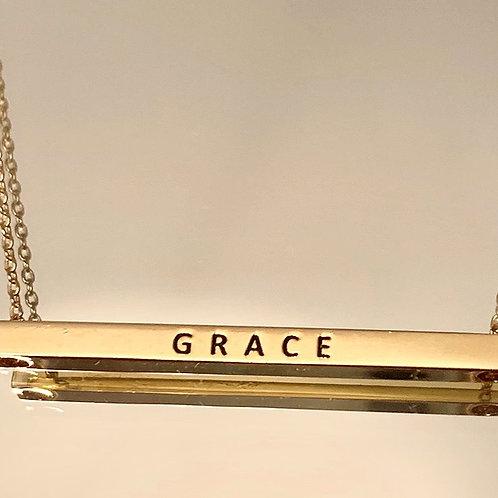His Grace Bar Necklace