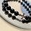 Thumbnail: Men's - Beaded Cross Crystal Bracelet