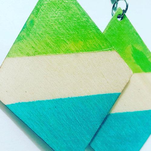 Lime Blue Drop Earrings