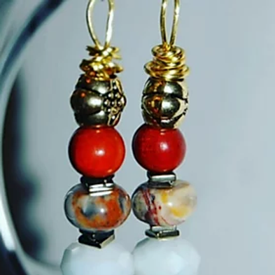 Royal Layer Bead Earrings $15.00