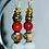 Thumbnail: Royal Layer Bead Earrings $15.00