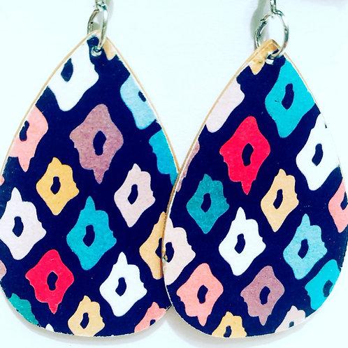 Multi Paint Drop Earrings