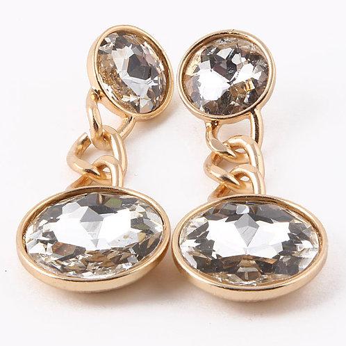 Diamond Drop Link Earrings