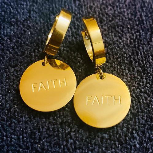 FAITH CHARM EARRINGS