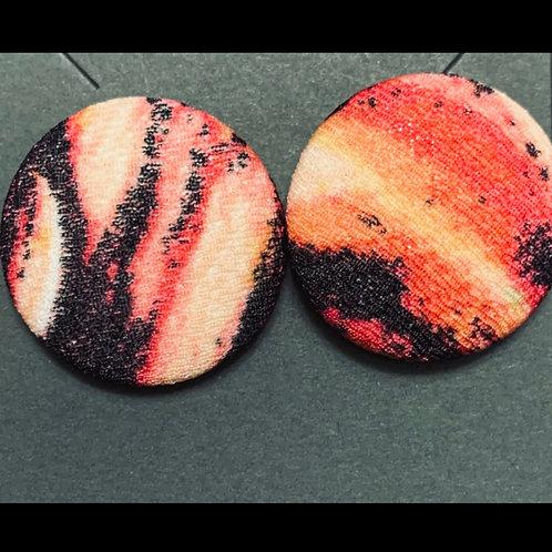Rust Orange Large Stud Earrings