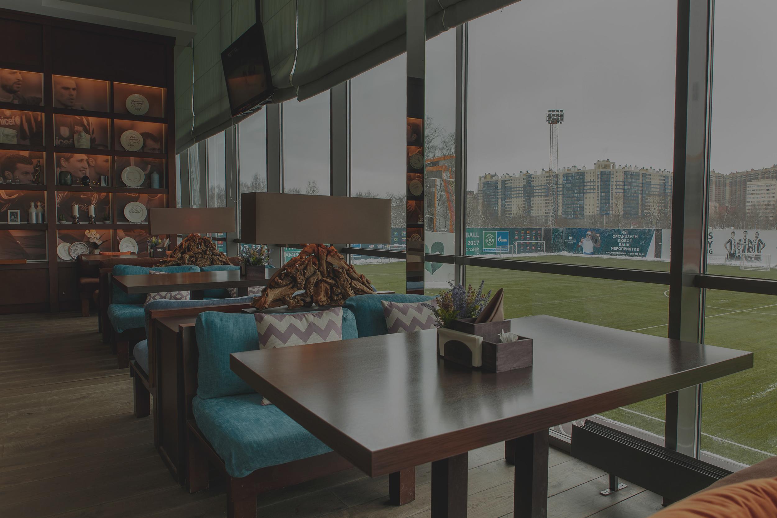 Вид из окна ресторана Трибуна