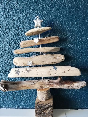 drijfhout kerstboom