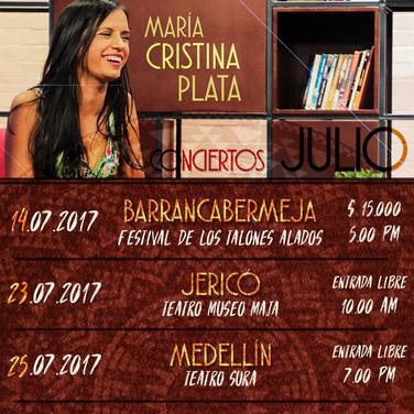 Conciertos julio 2017