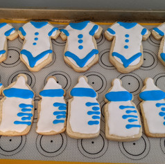 Nautical themed baby shower cookies