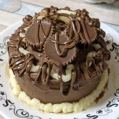 Chocolate Reese lunchbox cake