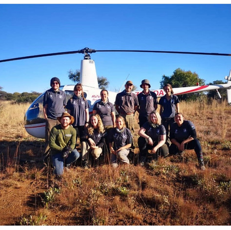Volunteers With Rhino 911 Helicopter