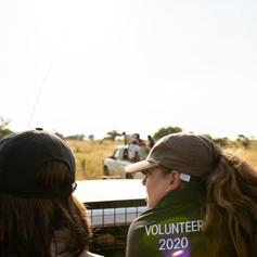 Volunteers En Route To Their Next Activity