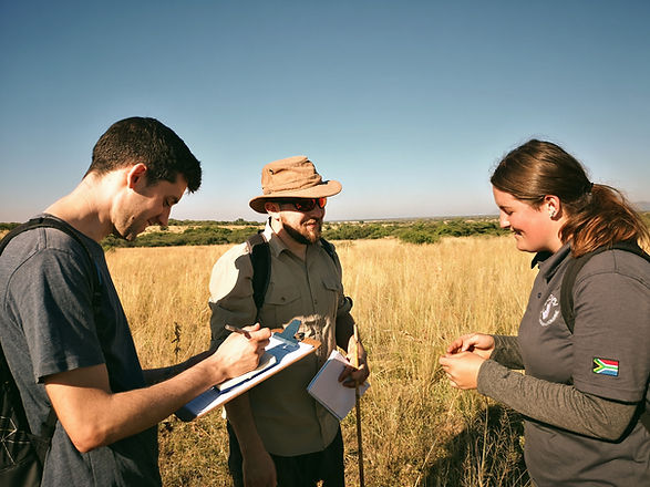 Volunteer Teaching University Students On African Field Course