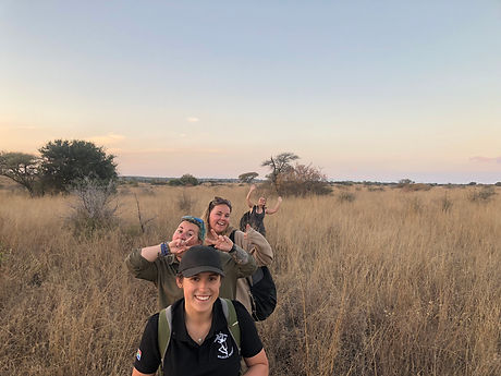 Conservation Volunteers On A Walked Patrol