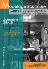 Photo pour un flyer, pour des cours et stages chez la céramiste Guénaëlle Grassi
