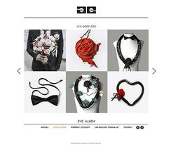 Photos pour le site internet de la créatrice Eve Allem