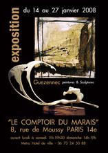 Affiche pour une galerie d'art - Comptoir du Marais - Paris