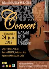 Affiche pour un concert classique - Eglise Butry sur Oise