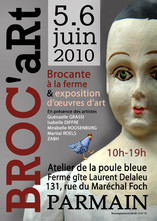 Affiche pour la manifestation Broc'Art Parmain