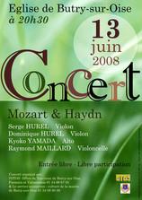 Affiche pour un concert de musique classique - Eglise de Butry sur Oise