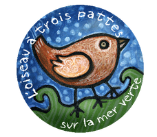 Logo réalisé pour l'association L'Oiseau à trois pattes sur la mer verte