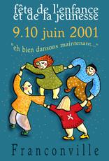 Affiche pour la fête de l'enfance - Franconville